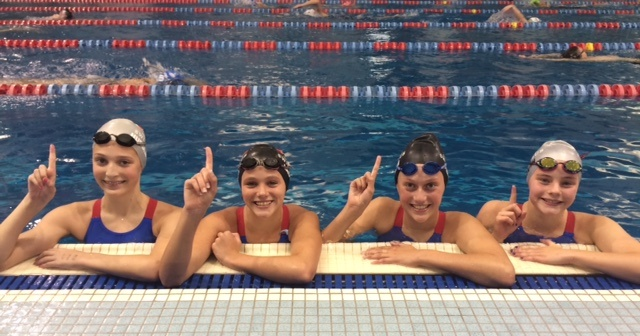 Ohio State Swim Club Girls Nab 11-12 NAG in 400 Medley Relay