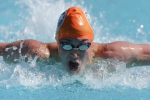 Rising butterfly star Caleb Harrington. (Courtesy: Tim Binning/TheSwimPictures.com)