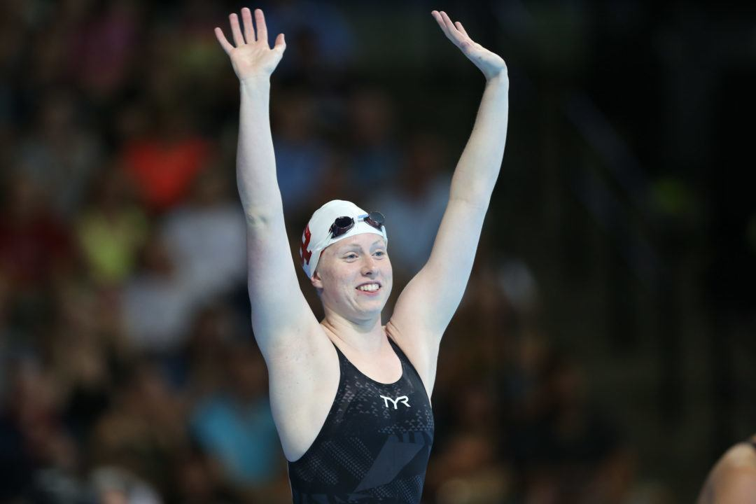 Lilly King Breaks Olympic Record, Wins Heated 100 Breast Final