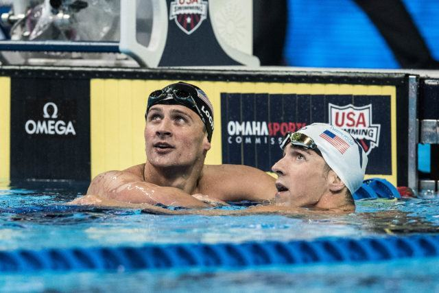 Michael Phelps and Ryan Lochte (photo: Mike Lewis)