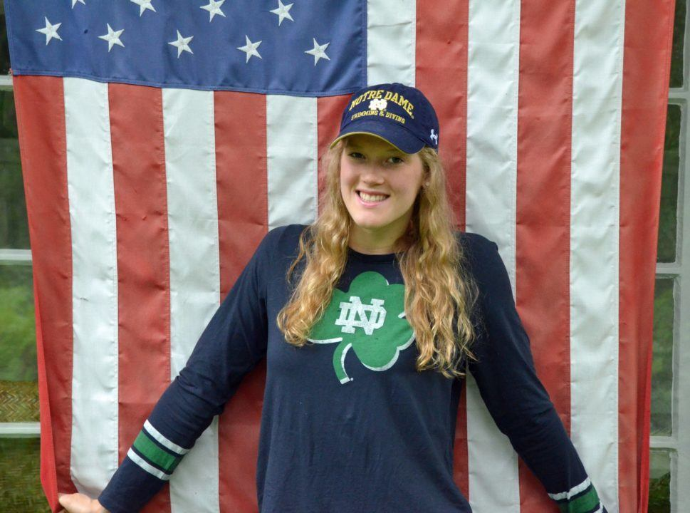 NY Distance Freestyler Lindsay Stone Verbally Commits to Notre Dame