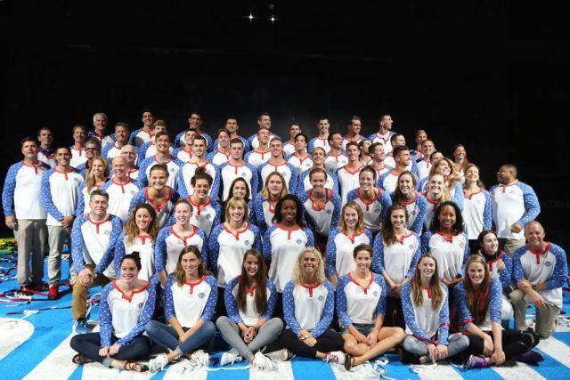 2016 US Olympic Swim Team (courtesy of Tim Binning)