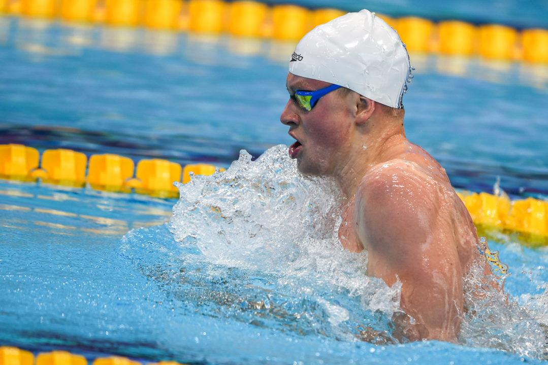Watch Adam Peaty's Wicked Fast 57.79 100 Breaststroke Race