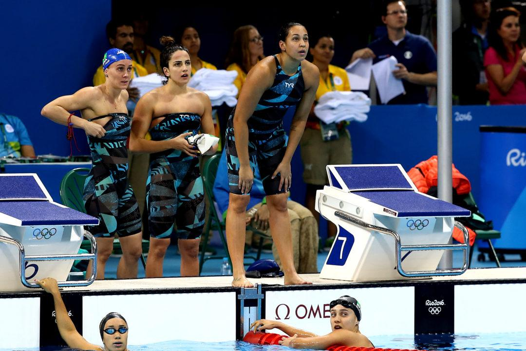 Brazilian Women's 800 Free Relay Breaks South American Record