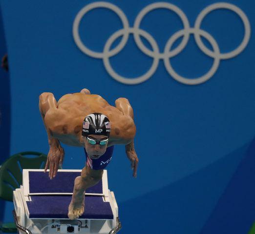 Michael Phelps. Finais da natacao no OAS. Jogos Olimpicos Rio 2016. 09 de Agosto de 2016, Rio de Janeiro, RJ, Brasil. Foto: Vitor Silva/SSPress