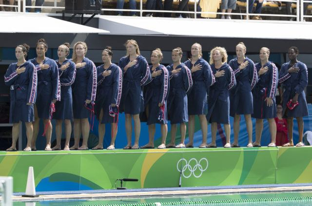 USA Water Polo - Women - USA vs China - 2016 Olympic Games in Rio. Photo courtesy of Jeff Cable/USAWP