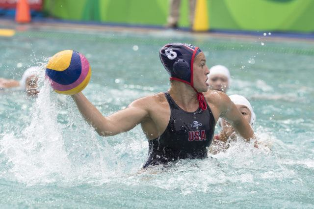 Kiley Neushul - USA Water Polo - Women - USA vs China - 2016 Olympic Games in Rio. Photo courtesy of Jeff Cable/USAWP