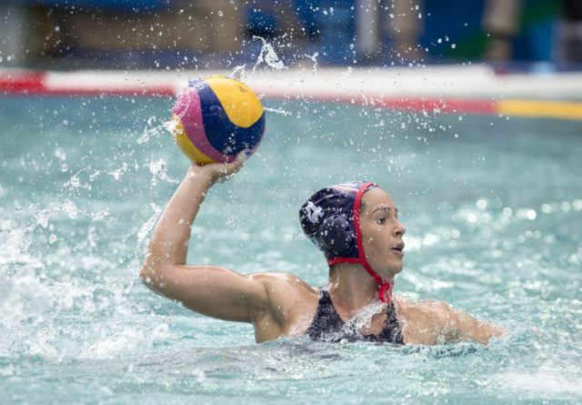 Rachel Fattal - USA Water Polo - Women - USA vs China - 2016 Olympic Games in Rio. Photo courtesy of Jeff Cable/USAWP