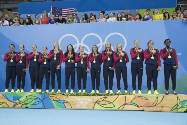 USA Water Polo - Women - USA vs Italy GOLD MEDAL GAME. Photo courtesy of Jeff Cable/USAWP