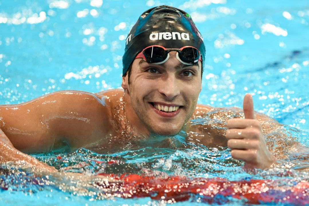 Gabriele Detti Is Back, Matches Italian Record In 400 Free In Riccione