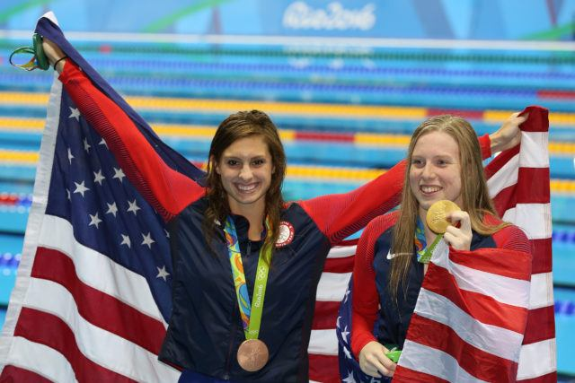 Olympic Medals - Katie Meili, Lilly King - 2016 Olympic Games in Rio -courtesy of simone castrovillari
