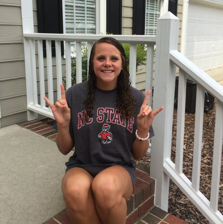 North Carolina IM/Breaststroker Julia Poole Gives Verbal to NC State