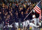 Phelps leading Team USA in Opening Ceremonies (Courtesy Rio 2016)