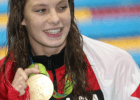 Penny Oleksiak  - 100 free - gold - 2016 Rio Olympics/photo credit Simone Castrovillari
