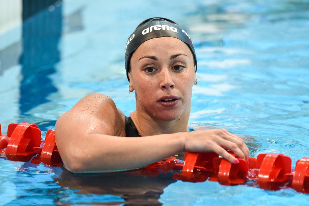 Italian Sprinter Silvia Di Pietro Makes Her Return to the Pool
