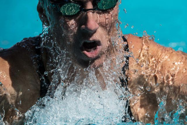 Trina Schaetz at the 2016 US Masters Swimming Summer national championship (Photo: Mike Lewis - Courtesy of U.S. Masters Swimming)