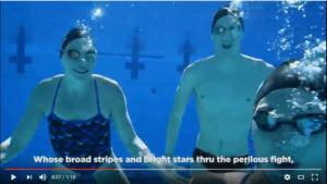 U.S. Olympic Swimming Team Sings the National Anthem – Underwater