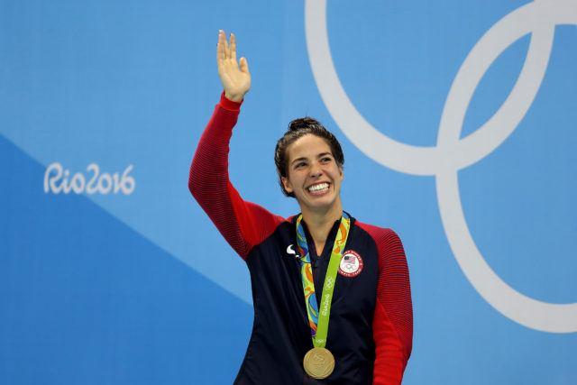 Maya Dirado - 200 back - Olympic Gold - podium - 2016 Rio Olympics/photo credit Simone Castrovillari