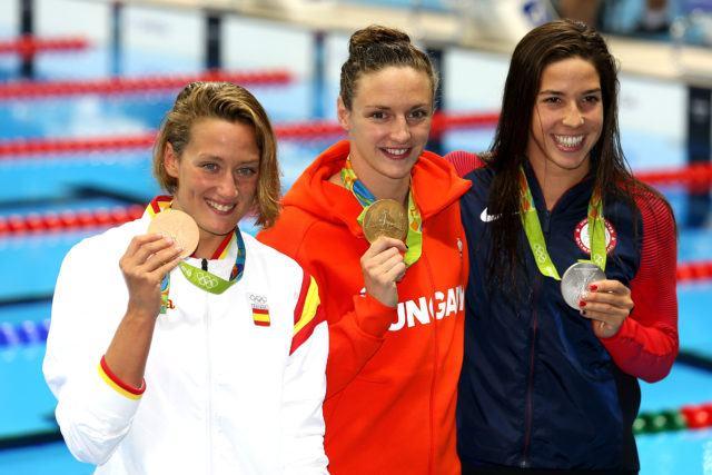 Katinka Hosszu, Mireia Belmonte, Maya Dirado - 2016 Olympic Games in Rio -courtesy of simone castrovillari