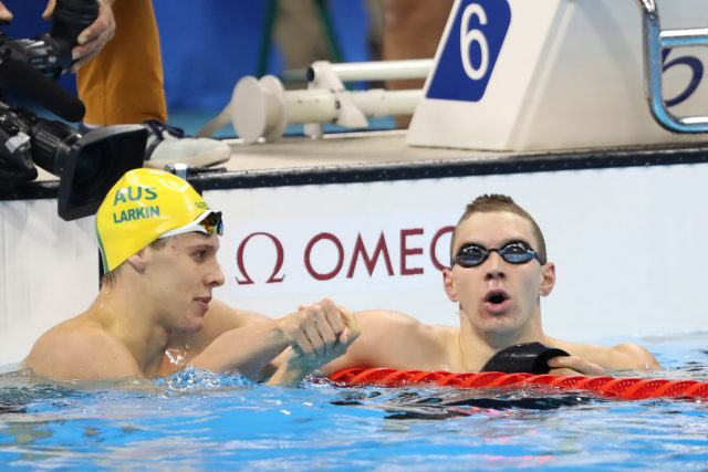 Mitch Larkin, Ryan Murphy - 2016 Rio Olympics/photo credit Simone Castrovillari