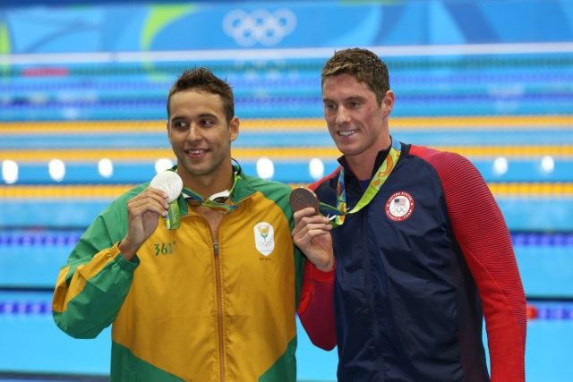 Olympic Medals - Chad le Clos, Conor Dwyer - 2016 Olympic Games in Rio -courtesy of simone castrovillari