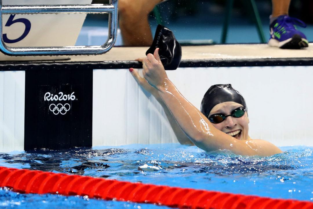 Ledecky Crushes 500 Free NCAA Record with 4:27 in OSU Invite Prelims