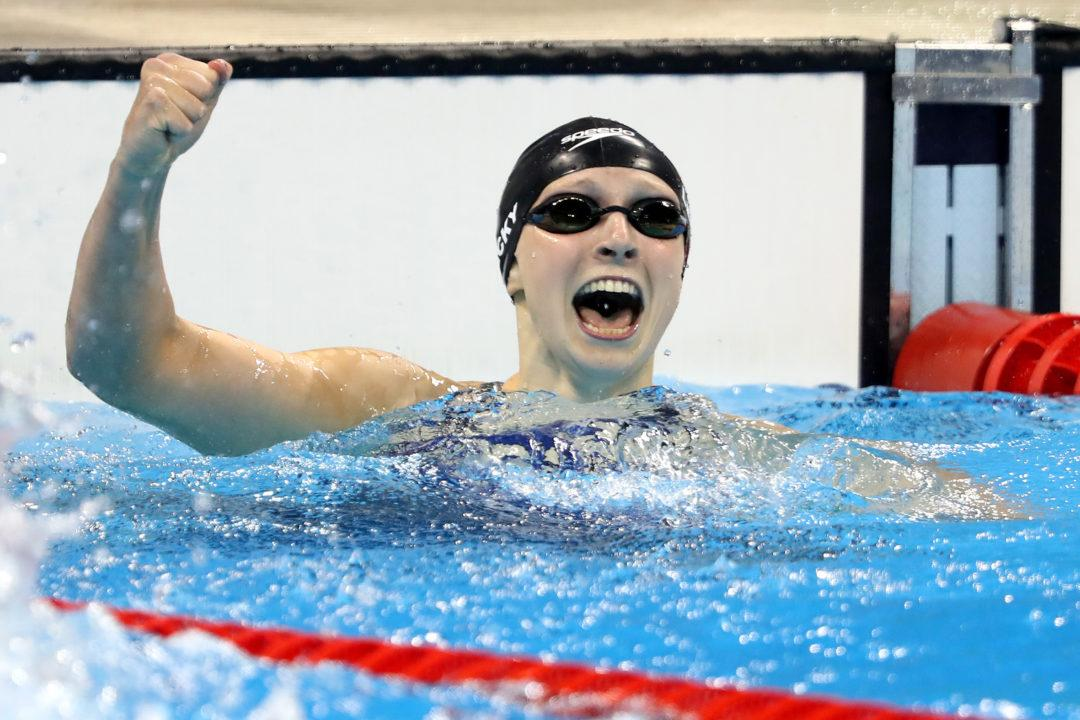 Katie Ledecky Takes Down American Record with 3:57.6 400 IM