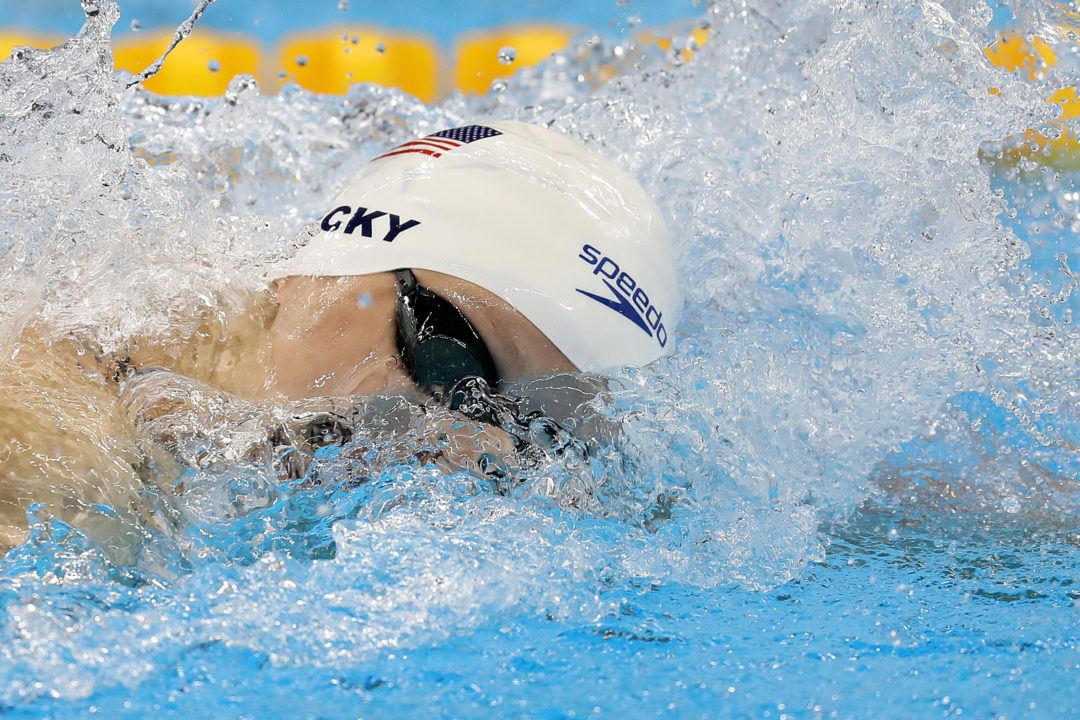Ledecky Cruises To Olympic Record 8:12 in 800 Free Heats