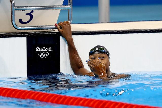 Simone Manuel - 100 free - gold - 2016 Rio Olympics/photo credit Simone Castrovillari