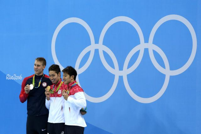 Chase Kalisz, Kosuke Hagino, Daiya Seto - 2016 Olympic Games in Rio -courtesy of simone castrovillari