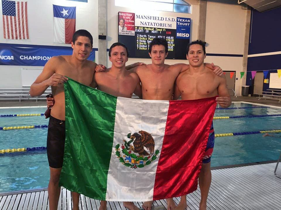 Texas A&M Teammates Clip Mexican National Record at Senior Circuit