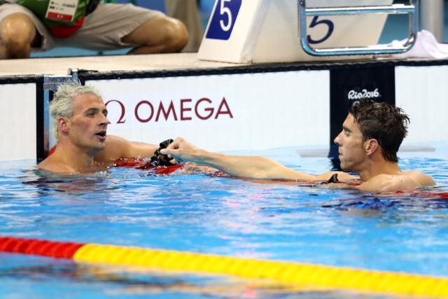 Ryan Lochte, Michael Phelps - 2016 Rio Olympics/photo credit Simone Castrovillari