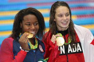 Epic Swim: Simone Manuel and Penny Oleksiak Tie for 100 Free Olympic Glory