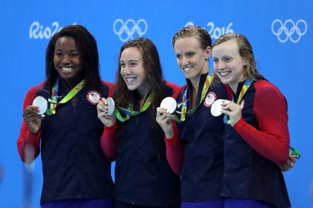 Simone Manuel, Abbey Weitzeil, Dana Vollmer, Katie Ledecky - 2016 Olympic Games in Rio -courtesy of simone castrovillari