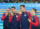 Caeleb Dressel, Michael Phelps,  Nathan Adrian, Ryan Held - 2016 Olympic Games in Rio -courtesy of simone castrovillari