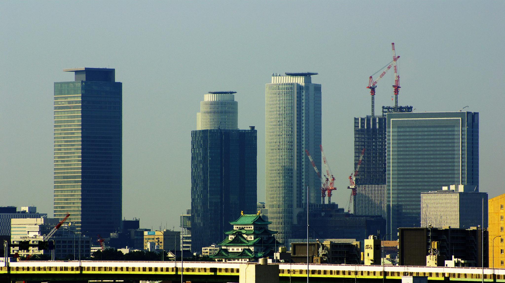 151023 Nagoya Castle  Skyscrapers in Meieki - Asian Games Nagoya