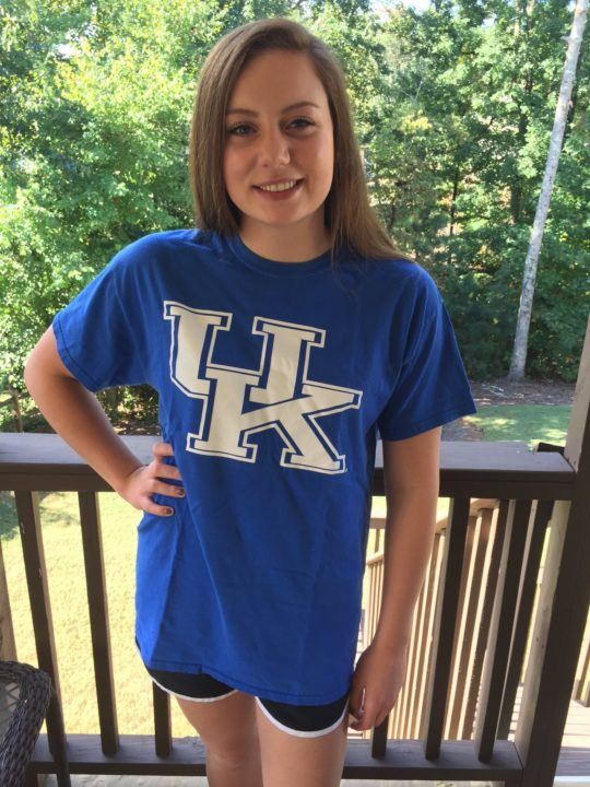 Kentucky Gets Verbal Commitment From Georgia Breastroker Jaclyn Hill