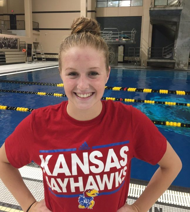 Ellie Flanagan of Columbia Swim Club Gives Verbal to Kansas