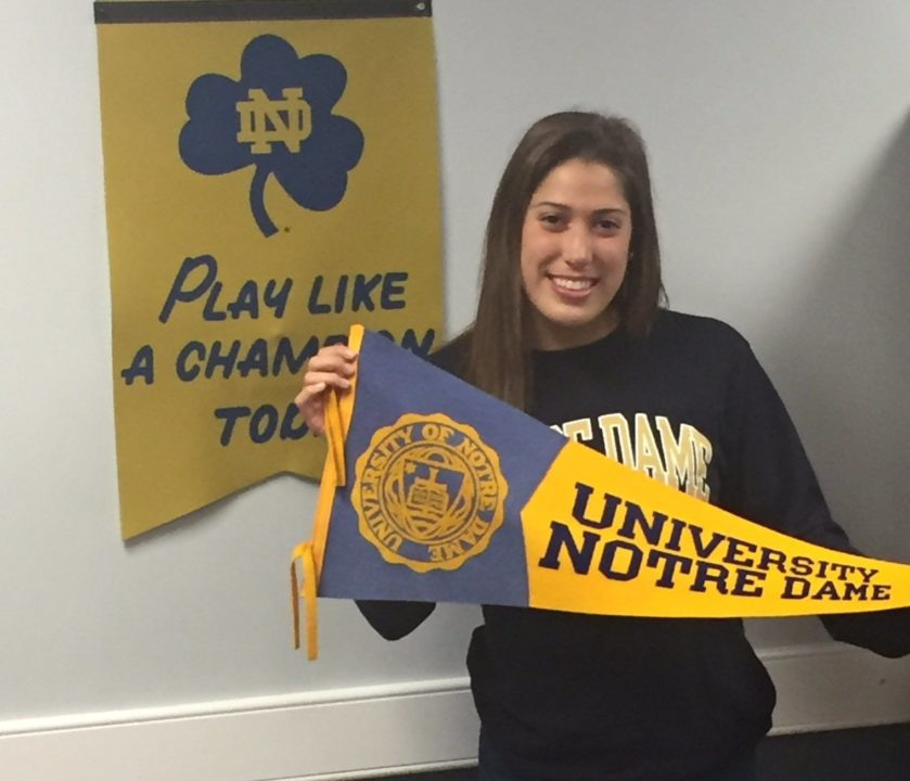 Breaststroker Abigail German Gives Verbal Nod to Notre Dame