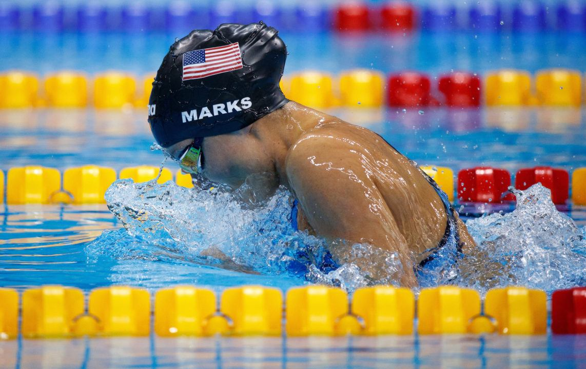 Elizabeth Marks sets world record in SB7 100 meter breaststroke