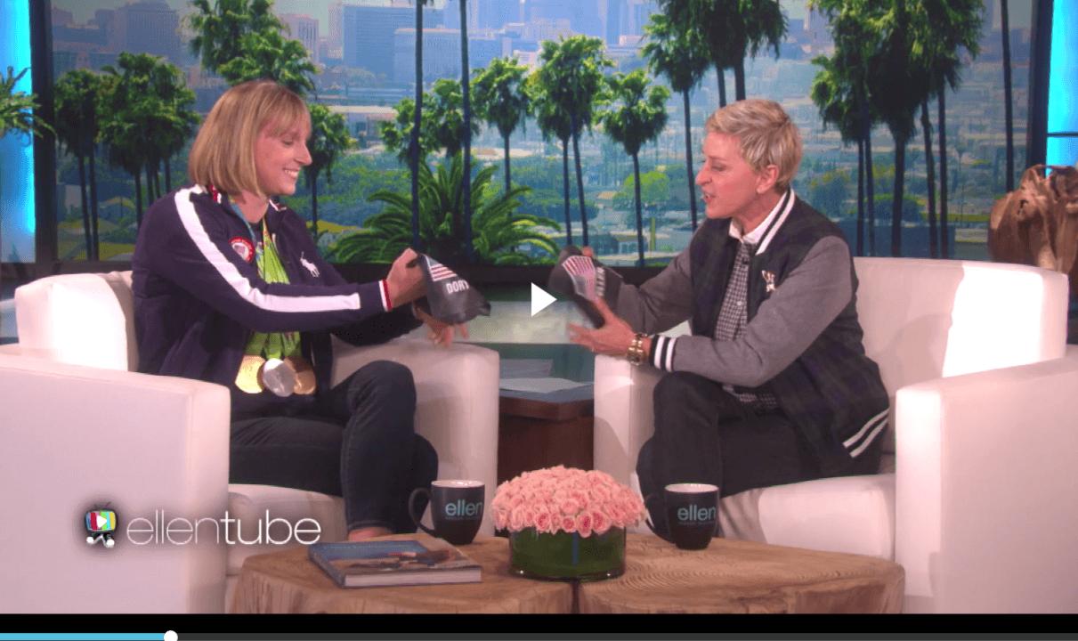 Katie Ledecky Smashes American Ninja Warrior on Ellen, Declines Prize
