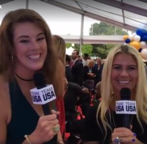 Watch: Allison Schmitt & Elizabeth Beisel Host USOC Awards Red Carpet