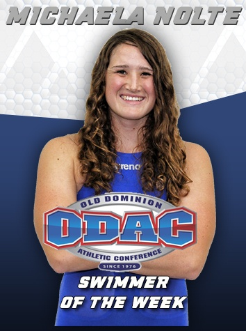 michaela nolte named odac women s swimmer of the week. Black Bedroom Furniture Sets. Home Design Ideas