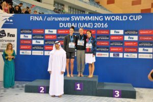 Meili, Larson made it into several finals at FINA World Cup Dubai