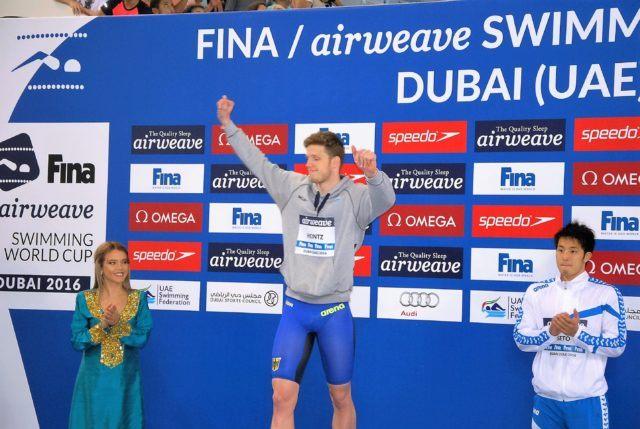 Heintz koch zellmann mischen im fina world cup mit fotos for Koch 400m world record