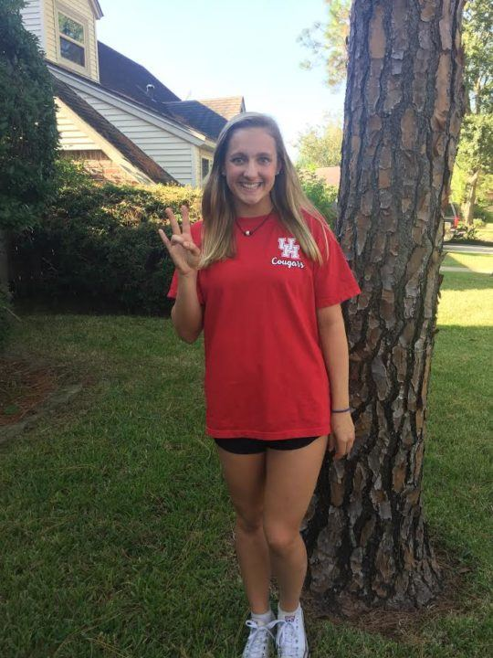 Houston Lands Verbal From Local IM/Backstroker Kaley Hoffman