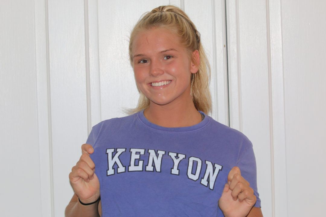 Kenyon Ladies Secure Verbal Commitment from In-State Julia Moran