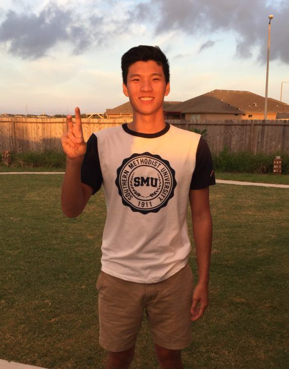 SMU Earns Verbal Commitment from In-State Breaststroker Arthur Cheng