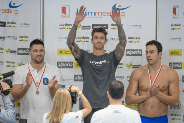 Anthony Ervin, Marco Orsi, Federico Bocchia, Genoa Meet 2016, Courtesy of Rafael/Domeyko Photography