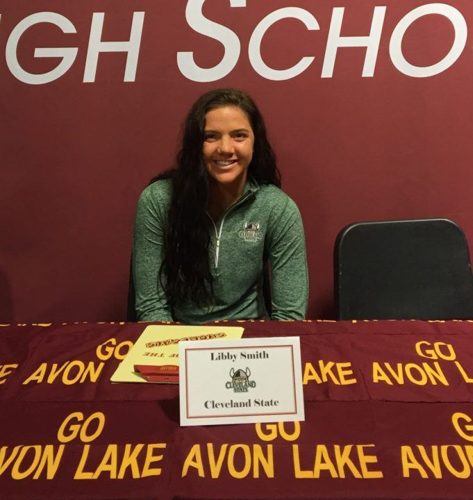 Ohio Breaststroker Libby Smith Commits to Swim for Cleveland State